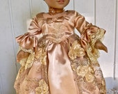 RESERVED for Rosie06  Doll clothing, 18 inch doll clothes Elegant 1700s Marie Antoinette Dress with undergarments. Luxurious. Couture qualit