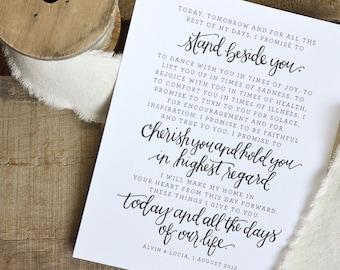 Wedding vow art etsy junglespirit Images