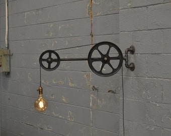 View Pulley Lights by WestNinthVintage on Etsy