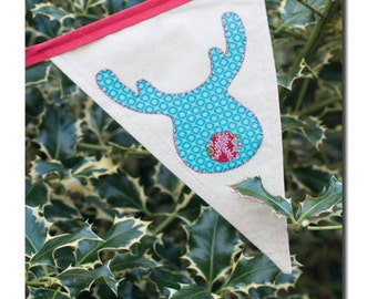 Christmas Bunting Pattern with appliqué shapes