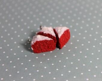 Polymer Clay Red Velvet Cake Charm
