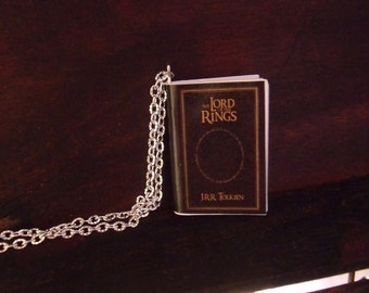 Il signore degli anelli collana miniatura libro - The lord of the rings book necklace