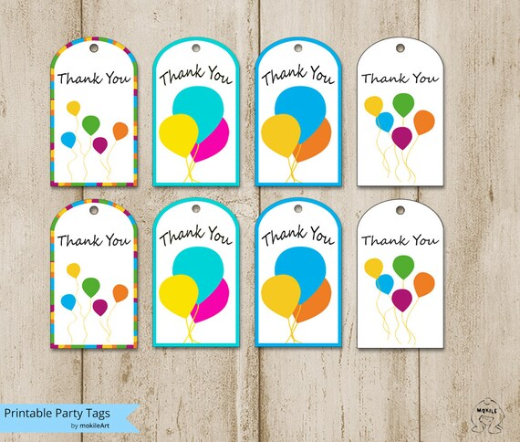 Fan image with regard to free printable thank you tags for birthdays