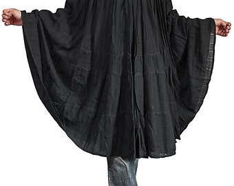 Linen Cotton Crinkle Skirt / Poncho (BGN-044-01)