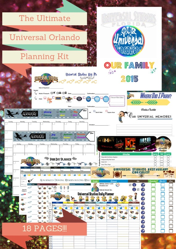The Ultimate Universal Studios Florida Planner Kit by ...