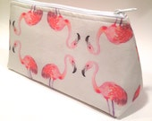 Cosmetic Bag- Pink Flamingos