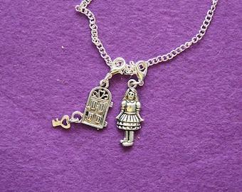 Alice in wonderland inspired pendant