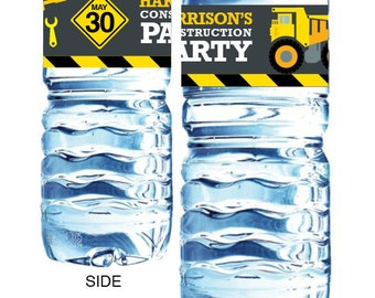 Instant Printable - Drink labels INSTANT DOWNLOAD DIY Printable for 'Construction themed' Party