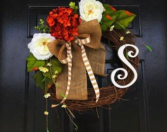 Fall wreath, personalized wreath, fall wreath, wreath for door, wreath for fall, fall decor, fall door wreath