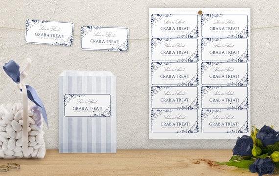 Labels For Wedding Gift Bags : Wedding Candy Bag Favor Labels (2 4) -DOWNLOAD InstantlyEDITABLE ...