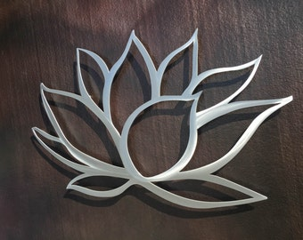 Lotus Flower Metal Wall Art - Lotus Metal Art - Home Decor - Metal Art - Wall Art - Large Metal Wall Art -Silver Wall Art - Metal Wall Decor
