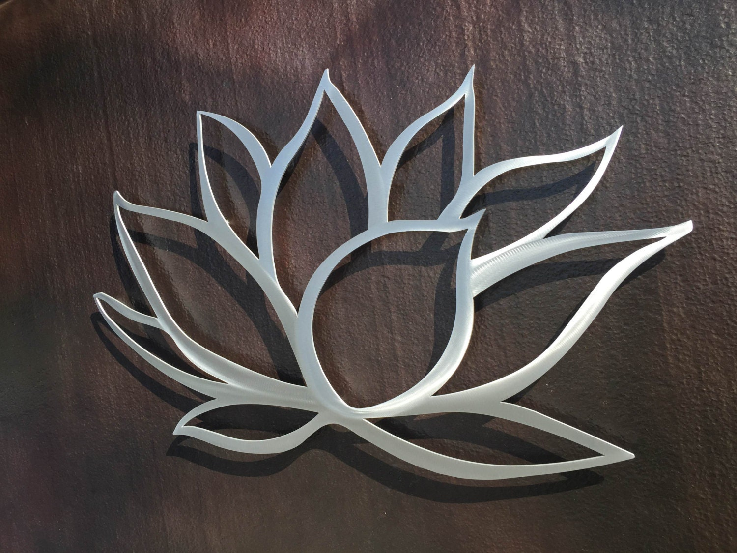 Lotus flower metal wall art lotus metal art home decor for Metal flower wall art