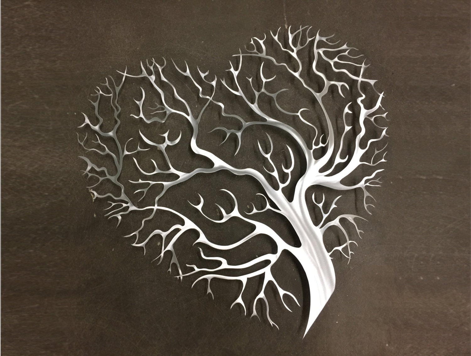 tree heart metal wall art tree metal wall art by inspiremetals