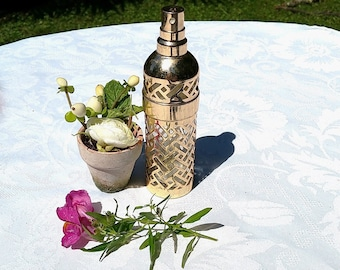 1982 French Vintage Guerlain Paris bottle cover, CHAMADE perfume refill holder,perfume cage