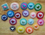 Pick One: Assorted Tiny Hearts! Patches, Badges, Magnets..