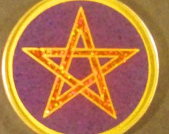 Pentagram Sacred Geometry Gemstone Pendant