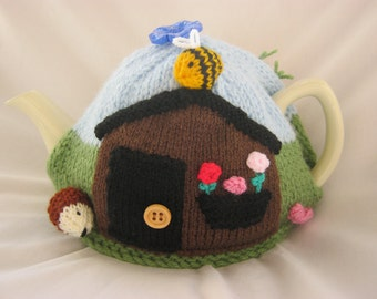 Knitted Allotment Tea Cosy