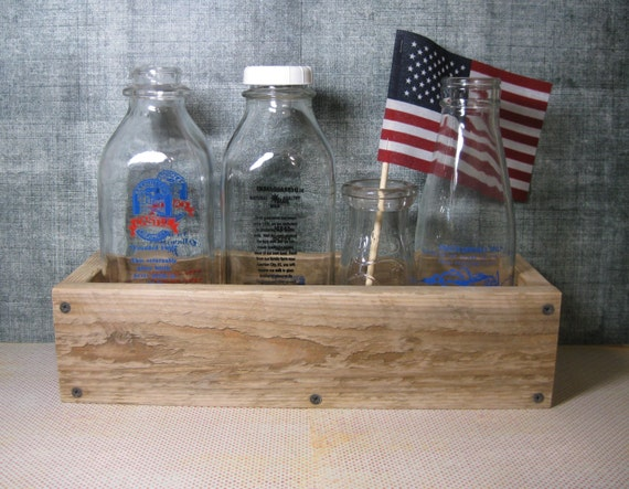 14 Pallet Wood Box Crate Recycled Display Table Box by ...