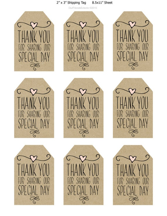 Légend image intended for free printable thank you tags for favors