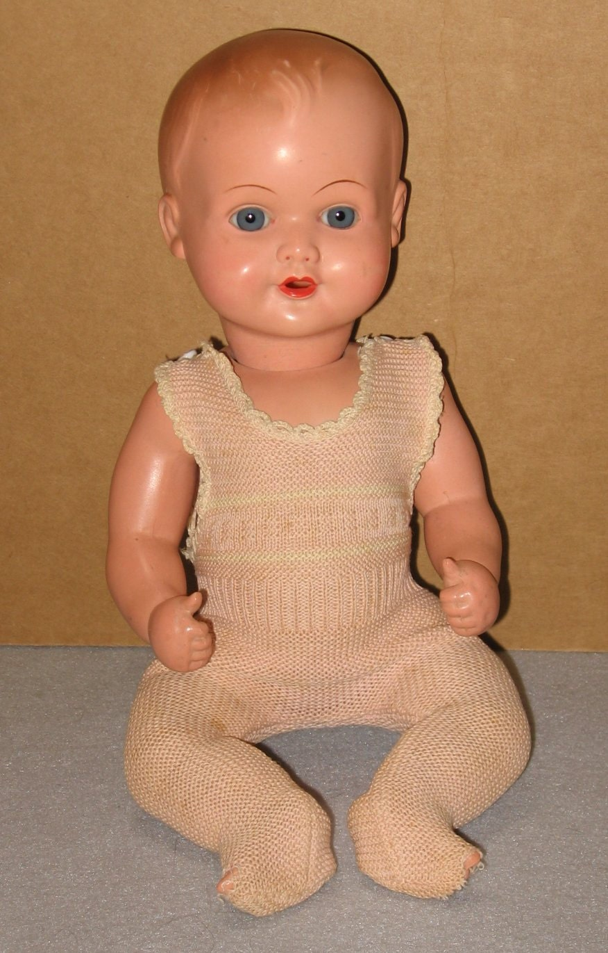 Cellba Celluloid Baby Doll Made in Germany Vintage 1930s