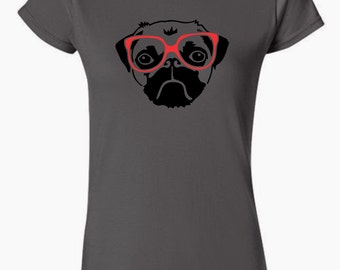 Pug with Glasses T-Shirt