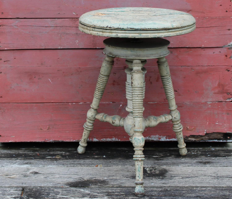 antique tabouret de piano r glable antique rond tabouret. Black Bedroom Furniture Sets. Home Design Ideas