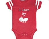 We  Match! I Love My Aunt (Ant) Funny Baby Football Bodysuit - Matches Our 2-Piece Matching Aunt/Baby Set (V7248WHT)
