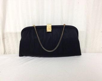 Vintage Purse,bag,1950s, 1960's, After Five ,USA, Black,formal,handbag