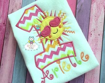 Sunshine Birthday Shirt or Bodysuit, Sunshine Birthday, Sunshine party theme, Sun party theme