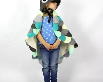 The Owl - Grey -  Handmade Children's Costume