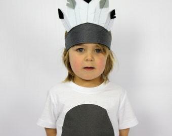 The Feather Crown - MONO -  Handmade Children's Bird Costume Hat