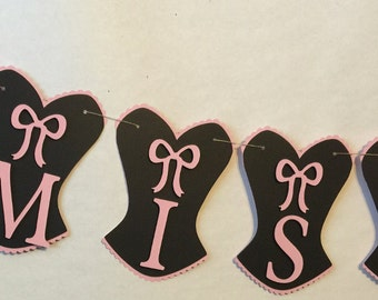 Bachelorette Banner, Bachelorette Decorations, Party Decorations, Miss to Mrs.