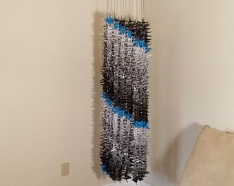 1000 Origami Cranes, Gray-scale and Blue Flying 'V'