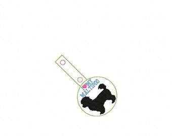I Love My Maltipoo - Maltese/Poodle DOG In The Hoop - Snap/Rivet Key Fob - DIGITAL Embroidery Design