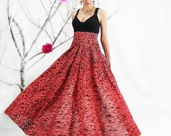 Plus size maxi skirt | Etsy