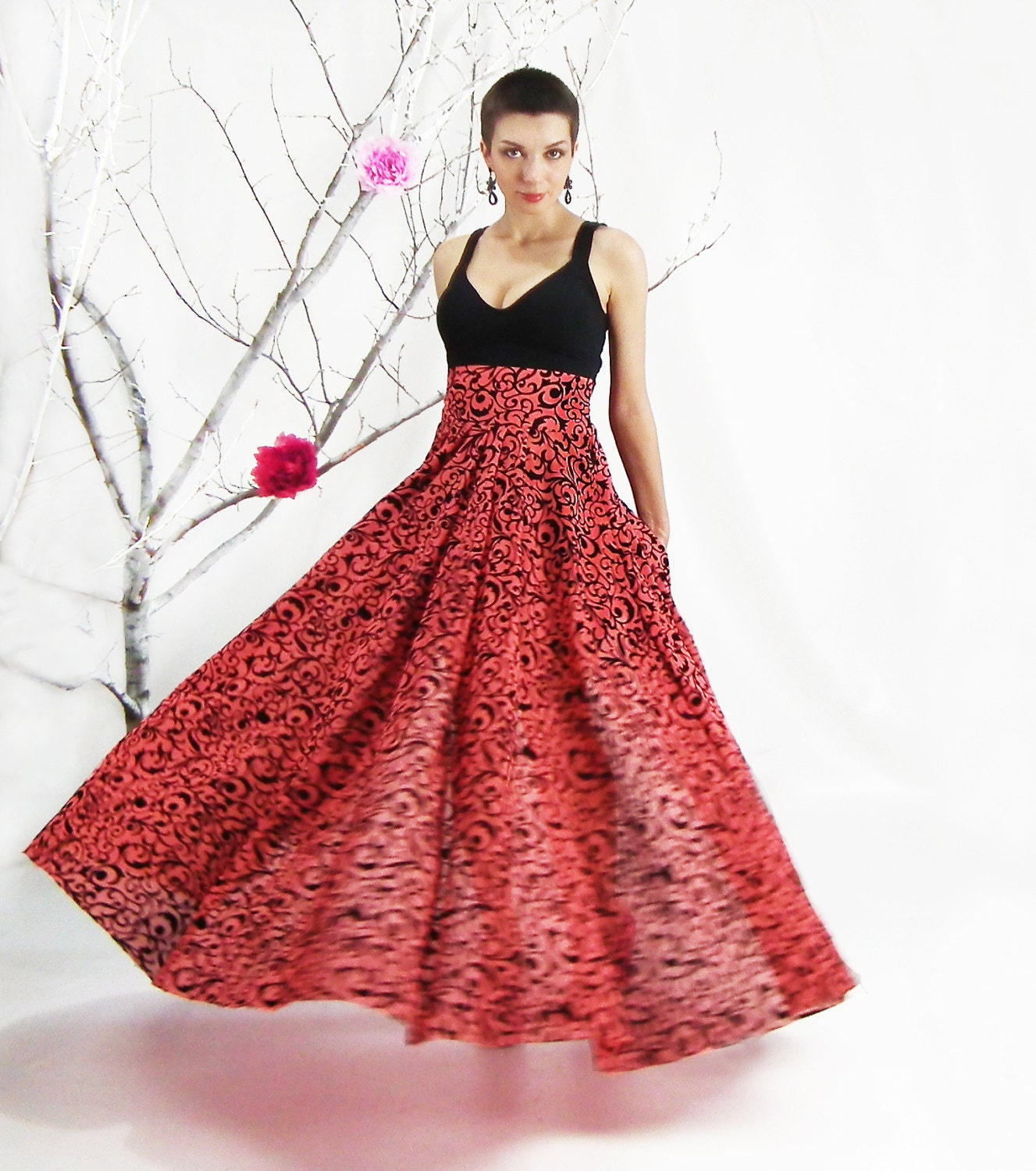 Maxi Skirt Circle Skirt Plus Size Skirt Floor Length Skirt