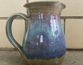 Vintage Lavender and Blue Studio Stoneware Pitcher
