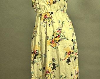Vintage Summer Days Cotton Sun Dress. 1980 California Boho Sun Dress