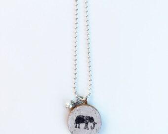 Elephant Cork Necklace