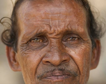 Photo print: Seller in Tamil Nadu, India. Fine art photography. Photography