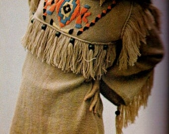 Native American Style Dress Vintage Knitting Pattern Download