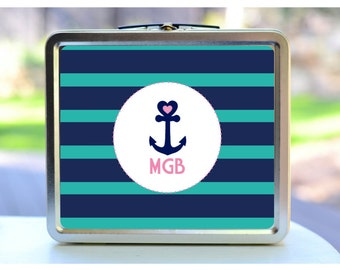 Anchor Lunchbox. Custom Lunchbox. Kids Lunchbox. Personalized Lunchbox.