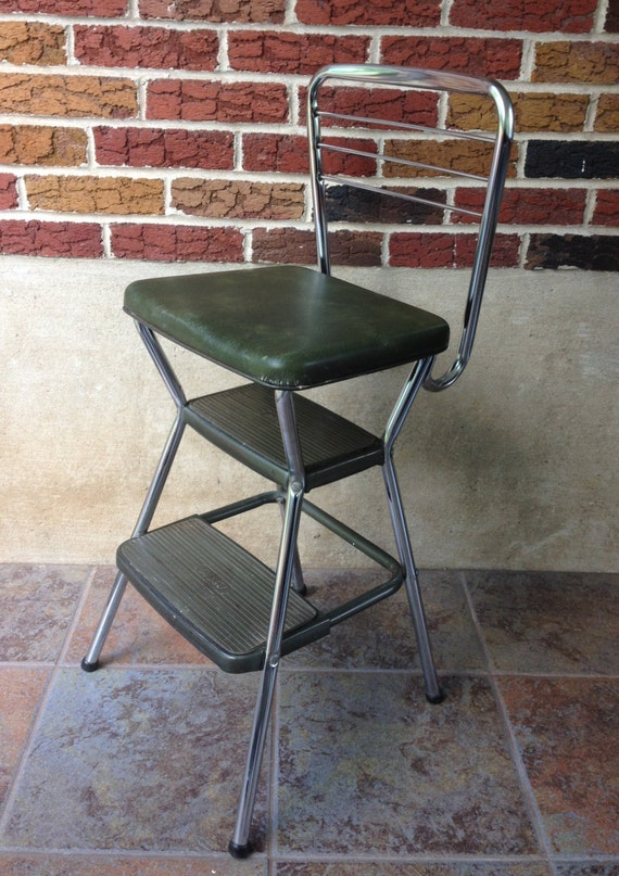 Vintage Cosco Step Stool And Chair Flip Seat