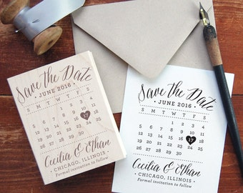 Save the Date Stamp #11 - Calendar Date - Personalized
