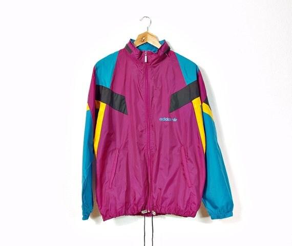80s oldschool adidas nylon windbreaker hoodie jacket folds. Black Bedroom Furniture Sets. Home Design Ideas