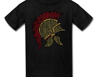 Kid's Trojan Helmet Vintage Style T-Shirt for Trojans Fans!