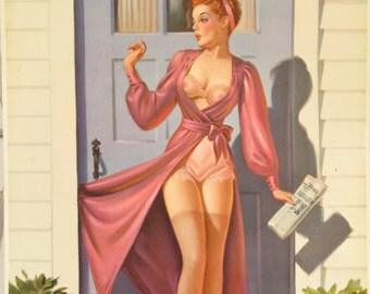"Original Vintage Art Frahm ""A Grand Slam"" Pin Up Poster"