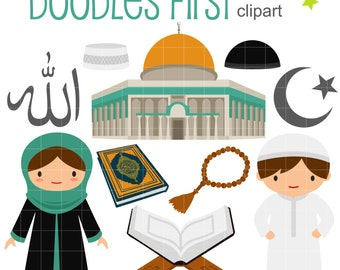 Islamic Culture Clip Art for Scrapbooking Card Making Cupcake Toppers Paper Crafts