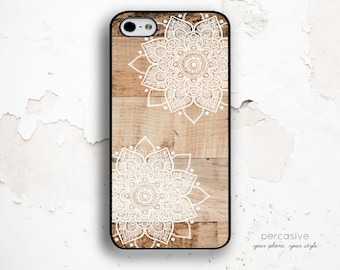 iPhone 6 Case Wood Floral - iPhone 5s Case, iPhone 6 Plus Case White Floral, iPhone 5c Case Wood Print, Geo iPhone 6 Case Floral :1023