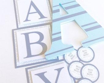 Baby Shower Banner, Modern Baby Shower Decorations, Modern Baby Shower Banner, Custom Baby Shower Banner, Boy or Girl Baby Shower Decoration